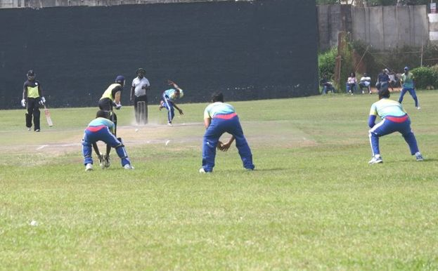Rwanda XI in a match against Challengers CC at Lugogo Oval.